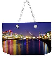 River Liffey In Dublin At Dusk Weekender Tote Bag