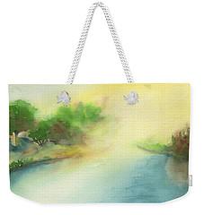River Morning Weekender Tote Bag