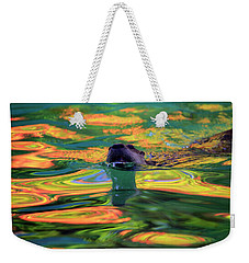 River Otter And Autumn Color Weekender Tote Bag