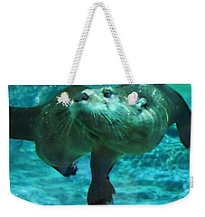 River Otter Weekender Tote Bag by Steve Karol