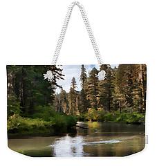 Weekender Tote Bag featuring the painting Millers Creek Painterly by Peter Piatt