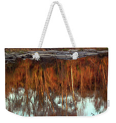 River Reflection Weekender Tote Bag by Skip Willits
