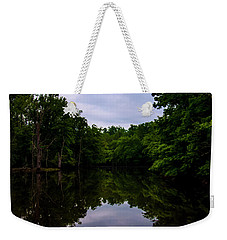 Weekender Tote Bag featuring the digital art River Reflections by Chris Flees