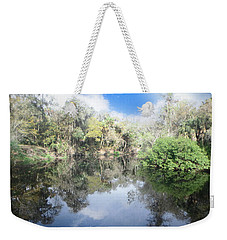 Weekender Tote Bag featuring the photograph River Reflections by Judy Hall-Folde