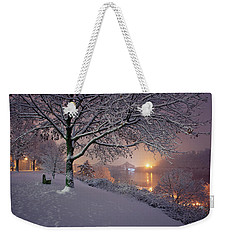 Weekender Tote Bag featuring the photograph River Road  by Emmanuel Panagiotakis