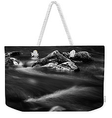 River Rock In Black And White Weekender Tote Bag
