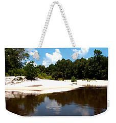 River Sandbars Painting Effect Weekender Tote Bag