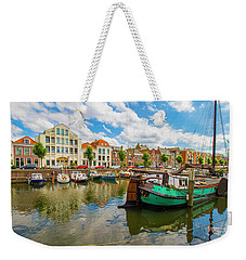 River Scene In Rotterdam Weekender Tote Bag by Venetia Featherstone-Witty