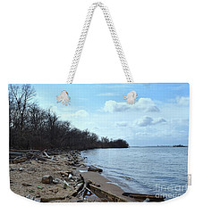 Delaware River Shoreline Weekender Tote Bag