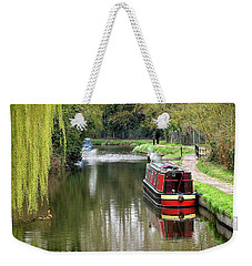 Weekender Tote Bag featuring the photograph River Stort In April by Gill Billington