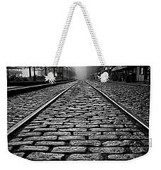 River Street Railway - Black And White Weekender Tote Bag