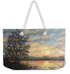 River Sundown Weekender Tote Bag