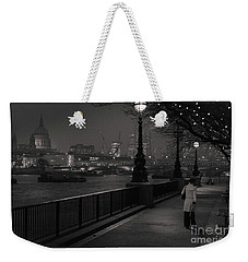 River Thames Embankment, London Weekender Tote Bag