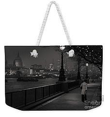 River Thames Embankment, London Weekender Tote Bag