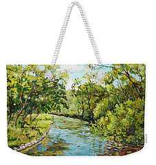 River Through The Forest Weekender Tote Bag