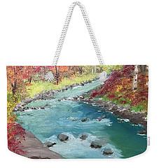 River Through Woods Weekender Tote Bag
