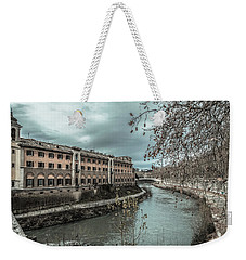 Weekender Tote Bag featuring the photograph River Tiber by Sergey Simanovsky