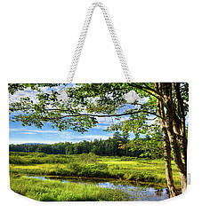 Weekender Tote Bag featuring the photograph River Under The Maple Tree by David Patterson