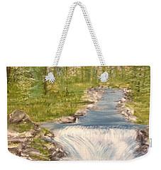 River With Falls Weekender Tote Bag