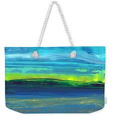 Riverbank Green Weekender Tote Bag