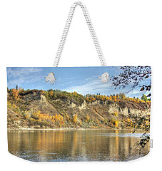 Riverbank In Autumn Weekender Tote Bag