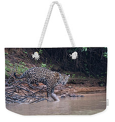 Riverbank Jaguar Weekender Tote Bag by Wade Aiken