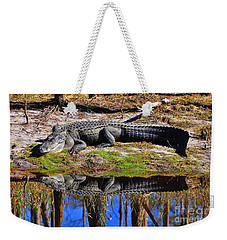 Weekender Tote Bag featuring the photograph Riverside Reflection by Al Powell Photography USA