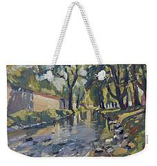 Riverjeker In The Maastricht City Park Weekender Tote Bag by Nop Briex