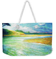 Weekender Tote Bag featuring the painting Rivermouth by Angela Treat Lyon