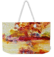 Riverscape In Red Weekender Tote Bag