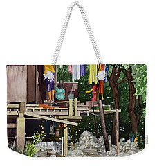 Riverside House And It's Laundry Weekender Tote Bag