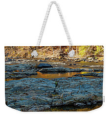 Weekender Tote Bag featuring the photograph Riverside by Iris Greenwell