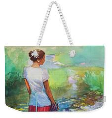 Riverside Muse Weekender Tote Bag
