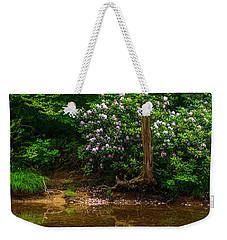 Riverside Rhododendron Weekender Tote Bag