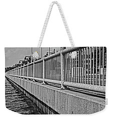 Weekender Tote Bag featuring the photograph Riverside Walkway by Maggy Marsh