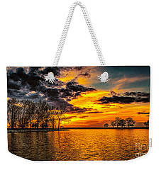 Weekender Tote Bag featuring the photograph Riverview Beach Park Sunset by Nick Zelinsky