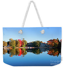 Riverview In Autumn Weekender Tote Bag by Charline Xia