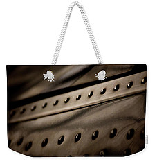 Weekender Tote Bag featuring the photograph Rivets by Paul Job