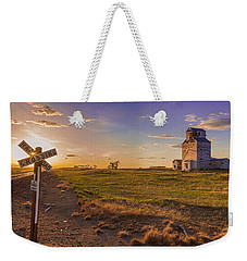 End Of The Day On The Montana Hi Line Weekender Tote Bag