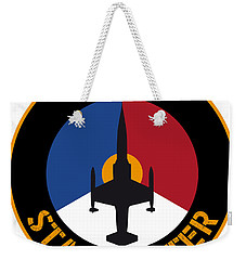 Weekender Tote Bag featuring the painting Rnlaf F-104 Starfighter by Nop Briex
