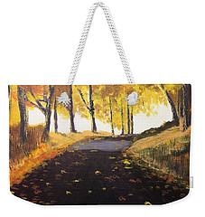 Road In Autumn Weekender Tote Bag