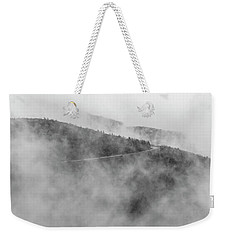 Road In Fog - Blue Ridge Parkway Weekender Tote Bag