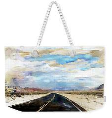 Road In The Desert Weekender Tote Bag