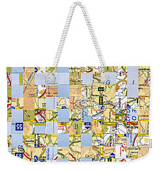Weekender Tote Bag featuring the mixed media Road Map by Jan Bickerton