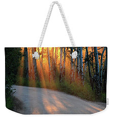 Weekender Tote Bag featuring the photograph Road Rays by Shane Bechler