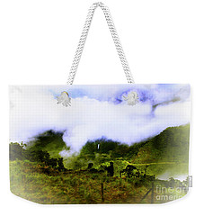 Weekender Tote Bag featuring the photograph Road Through The Andes by Al Bourassa