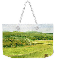 Road Through Vermont Field Weekender Tote Bag