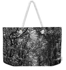 Road To Angel Oak Grayscale Weekender Tote Bag