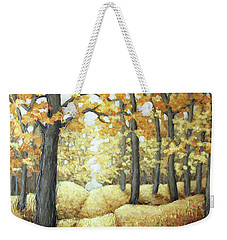 Road To Autumn Weekender Tote Bag by Inese Poga