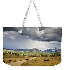 Road To Colorado  Weekender Tote Bag by Dawn Romine